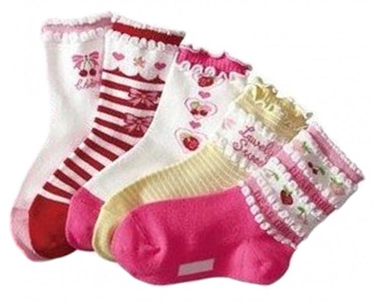 """5er Pack Baby Socken """"Mädchen"""" Babysocken 7-9 cm"""