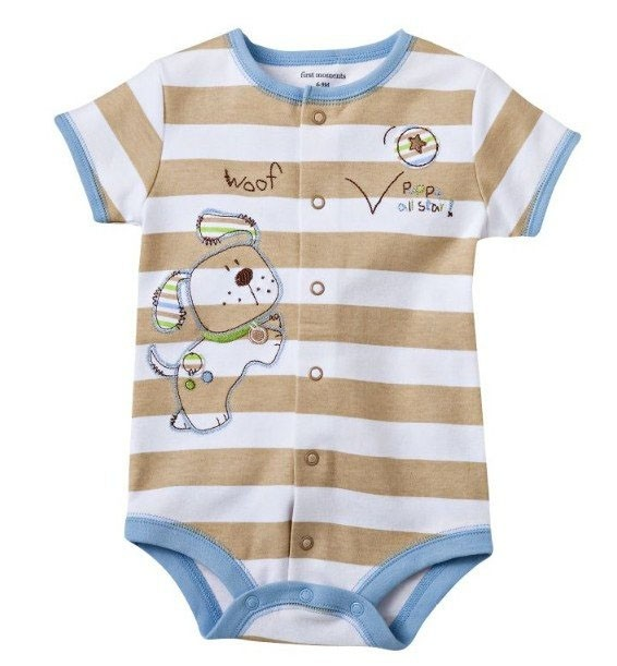 "Baby Body kurzarm ""Hundi braun""   Babybodies kurzarm   Babybody"