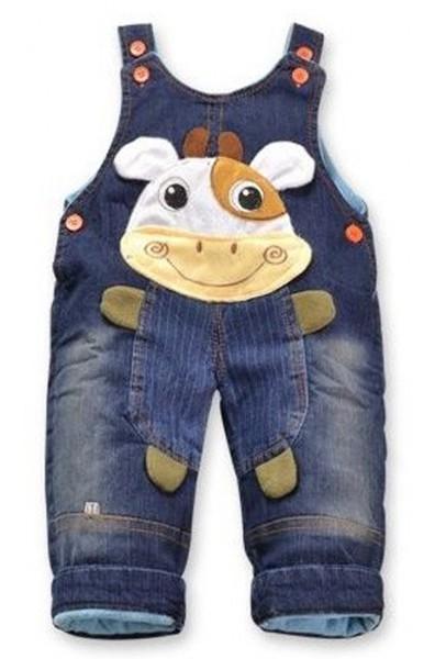 "Jeans Latzhose ""Kuh""  Baby Hose"