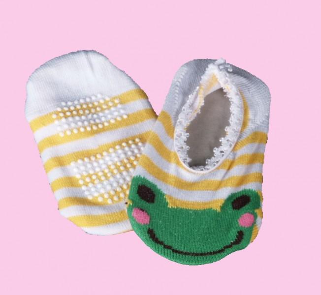 """Baby Laufsocken """"Frosch gelb"""" Babykleidung - Babysocken"""