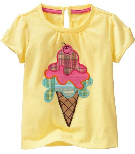 """Baby Shirt Mädchen """"Eis"""" gelb   Baby Sweatshirt   Tshirt"""