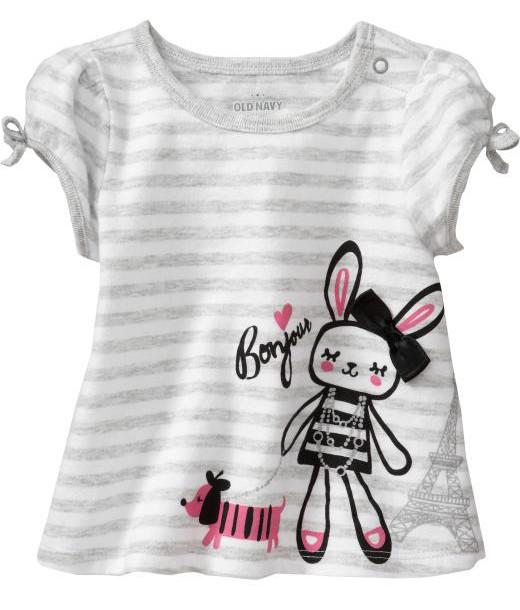 """Baby Shirt Mädchen """"Paris"""" grau weiß   Baby Sweatshirt   Tshirt"""