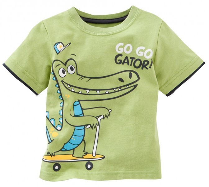"Kinder Shirt Jungen ""Aligator"" grün   Kinder Sweatshirt   Tshirt"