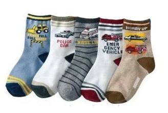 """5er Pack Baby Socken """"Jungen"""" Babysocken 7 - 9 cm"""