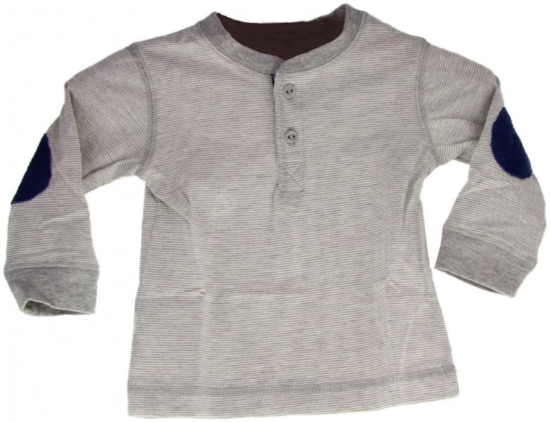 """Baby Shirt """"Streifen"""" grau   Baby Sweatshirt"""