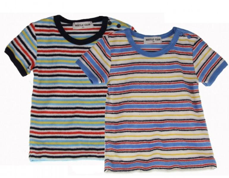 "2er Baby Shirt´s ""Club"" Blau Frottee   Baby T-Shirt"